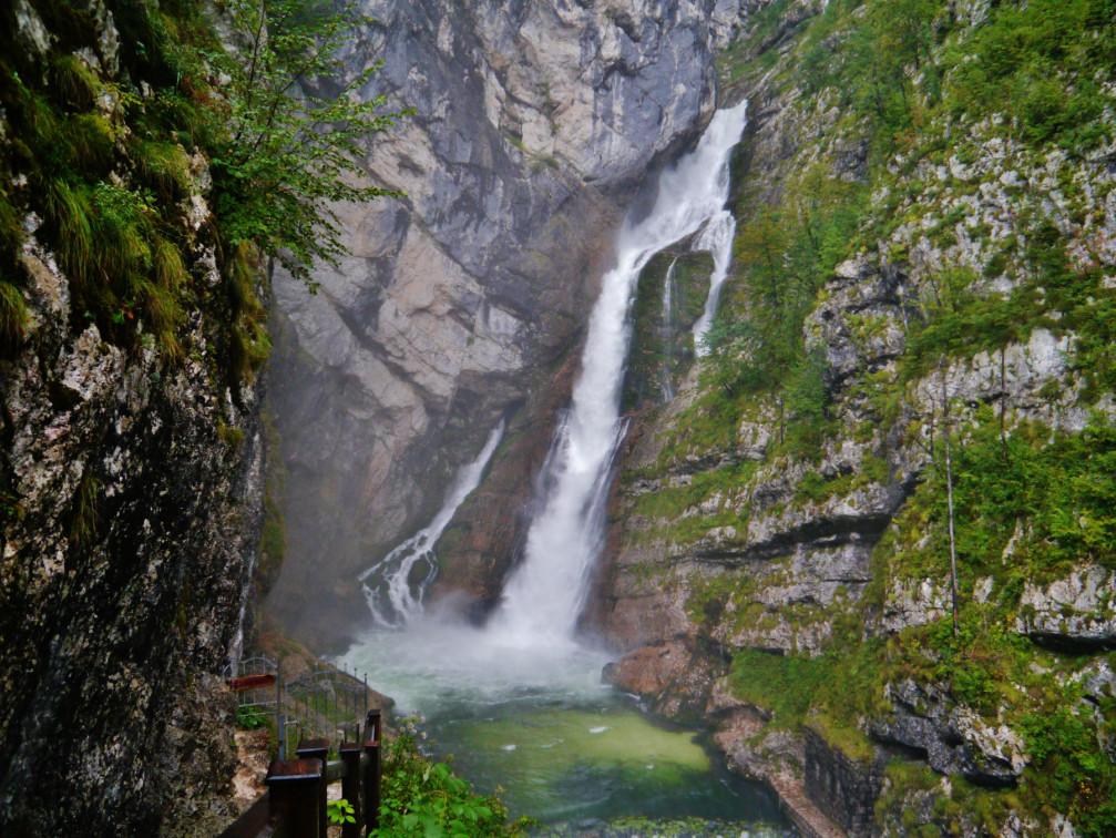 The Savica waterfall in the Lake Bohinj area in Slovenia