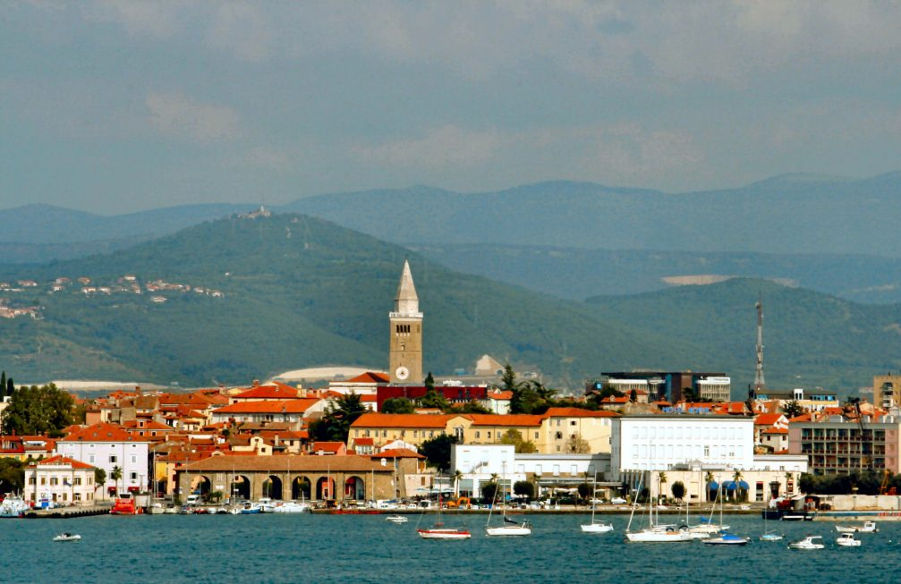 View of the coastal city of Koper from Zusterna