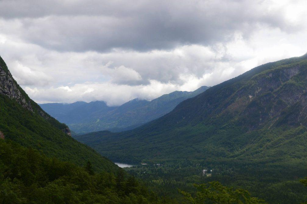 The dramatically beautiful mountain scenery that surrounds Lake Bohinj