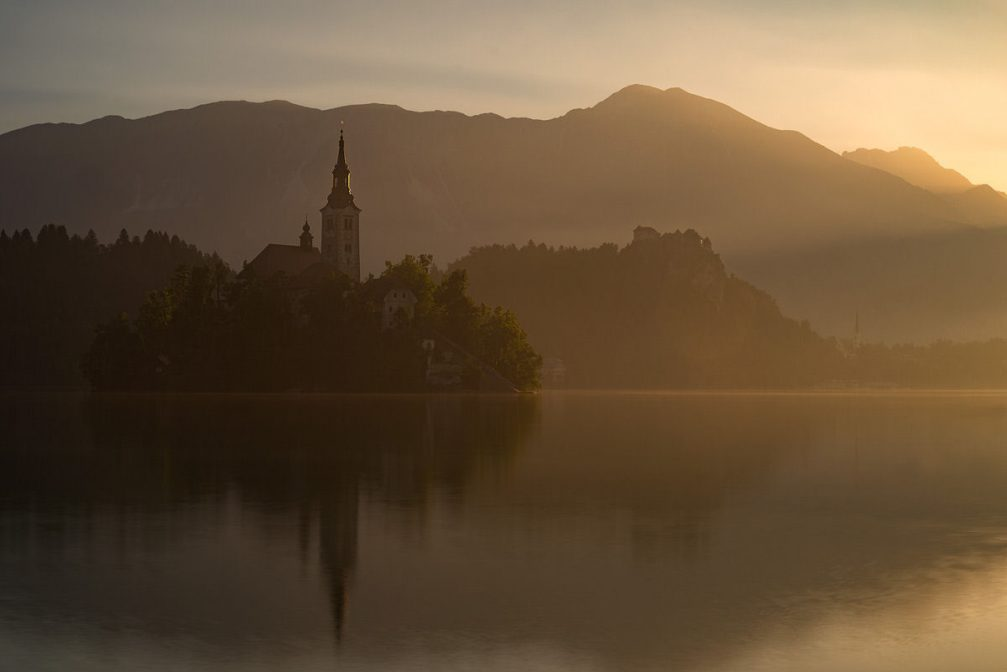 The Church of the Assumption of the Virgin Mary on Bled Island in Slovenia
