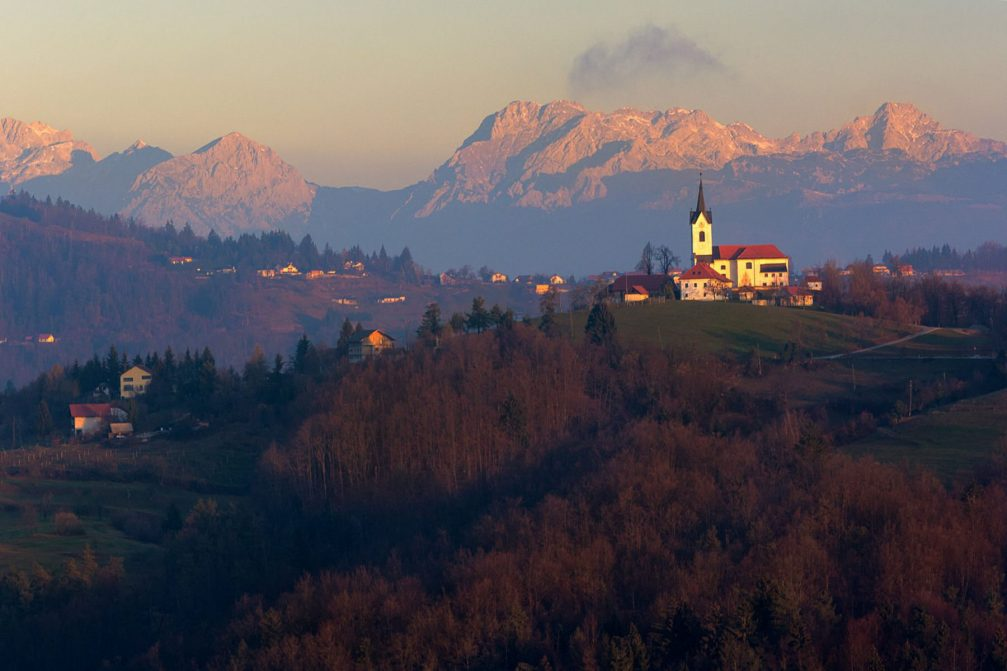 The Church of Saint Margaret or Sveta Marjeta in Prezganje in the Jance hills, Slovenia