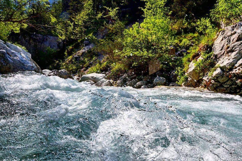 River Soca in the Trenta valley in the Triglav National Park, Slovenia