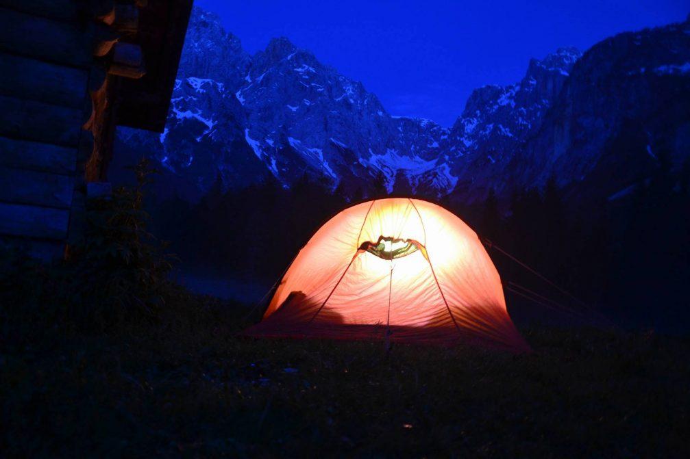 Camping in the Triglav National Park, Slovenia
