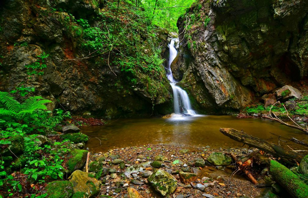 A small waterfall in the Pohorje woods in Slovenia
