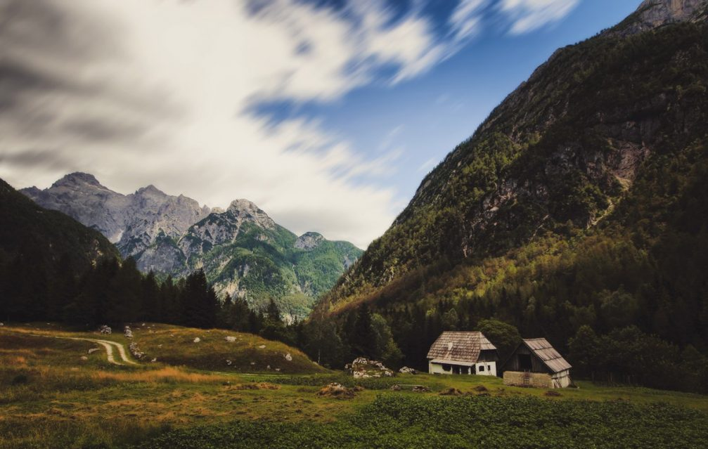 One of the high-altitude farms in Zadnja Trenta in the Triglav National Park, Slovenia