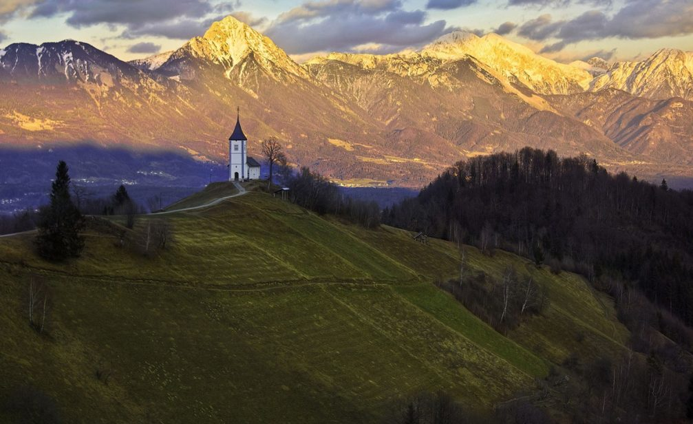 The Church of Saints Primus and Felician near Jamnik in Slovenia