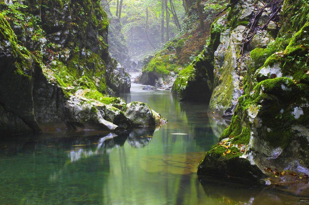Klame Gorge or Korita V Klamah in the Kanomljica valley near Idrija in western Slovenia
