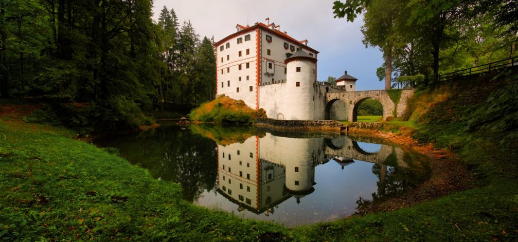 The restored 13th-century Sneznik Castle is one of the most beautiful fortresses in Slovenia