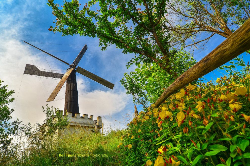 The Vogrin windmill in the Spodnji Jakobski Dol village in Slovenia