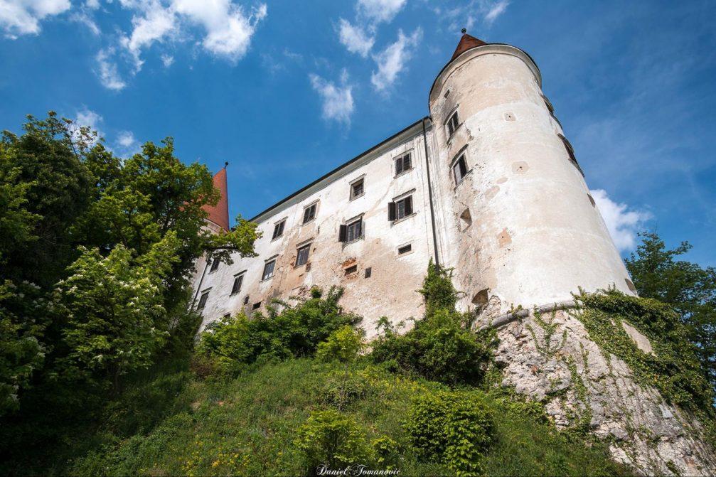Exterior of the Bizeljsko Castle in southeastern Slovenia