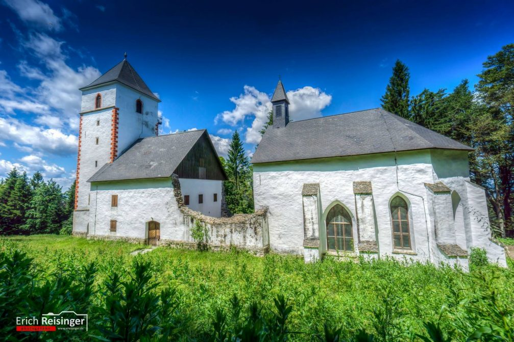 Exterior of St. Wolfgang's Church on Pohorje in northeastern Slovenia