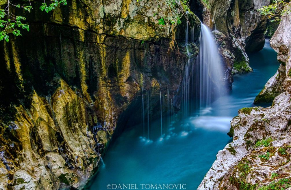 The Great Gorge of the Soca River, a natural wonder in the Triglav Natural Park, Slovenia