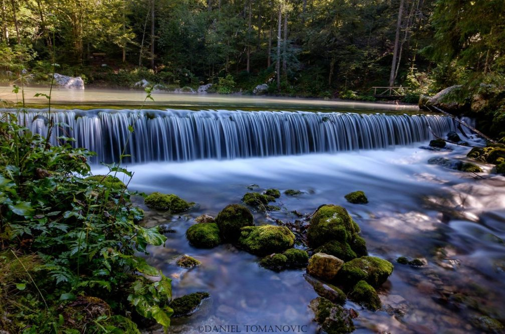 The source of the Kamniska Bistrica river in northern Slovenia