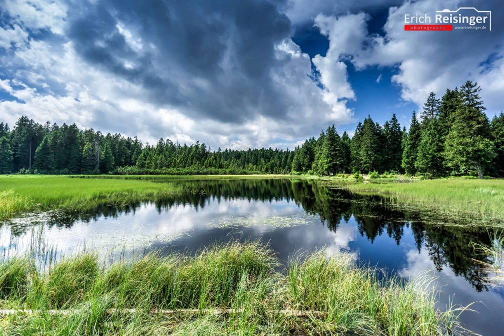 Lake Crno Jezero or Black Lake in the Pohorje Hills in Slovenia