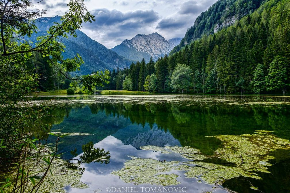 Lake Plansar or Plansarsko Jezero in Zgornje Jezersko in northern Slovenia