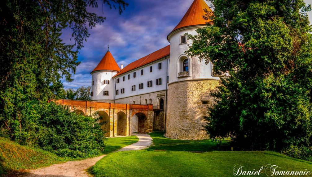 Exterior of the Mokrice Castle in southeastern Slovenia