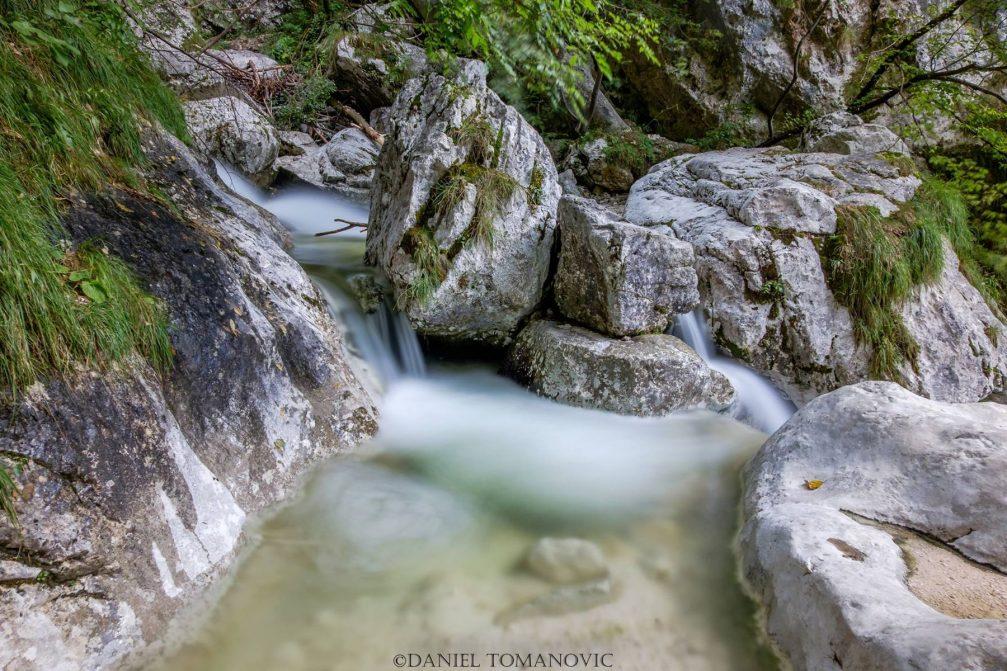Kamniska Bela mountain stream in the Kamnik-Savinja Alps, Slovenia