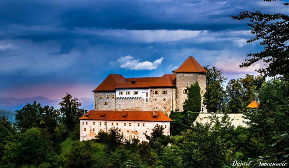 Exterior of the Podsreda Castle in Kozjansko in eastern Slovenia