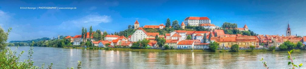 A beautiful panorama of Ptuj, the oldest town in Slovenia