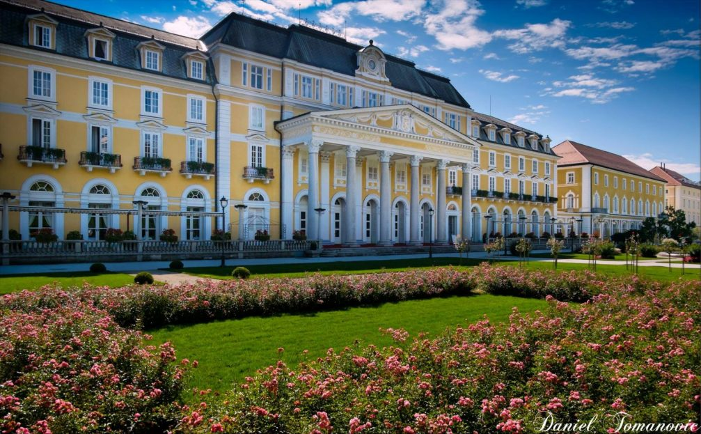 Exterior of the Grand Hotel Rogaska in Rogaska Slatina in eastern Slovenia