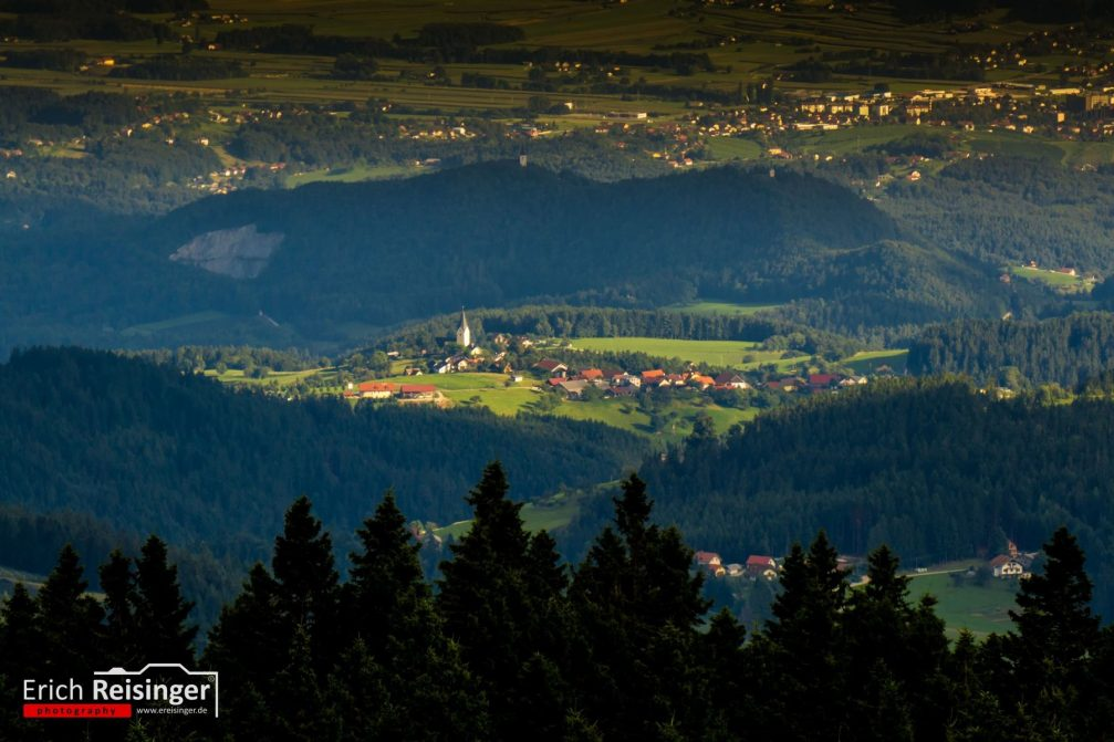 View from the Rogla observation tower in the heart of the Pohorje massif