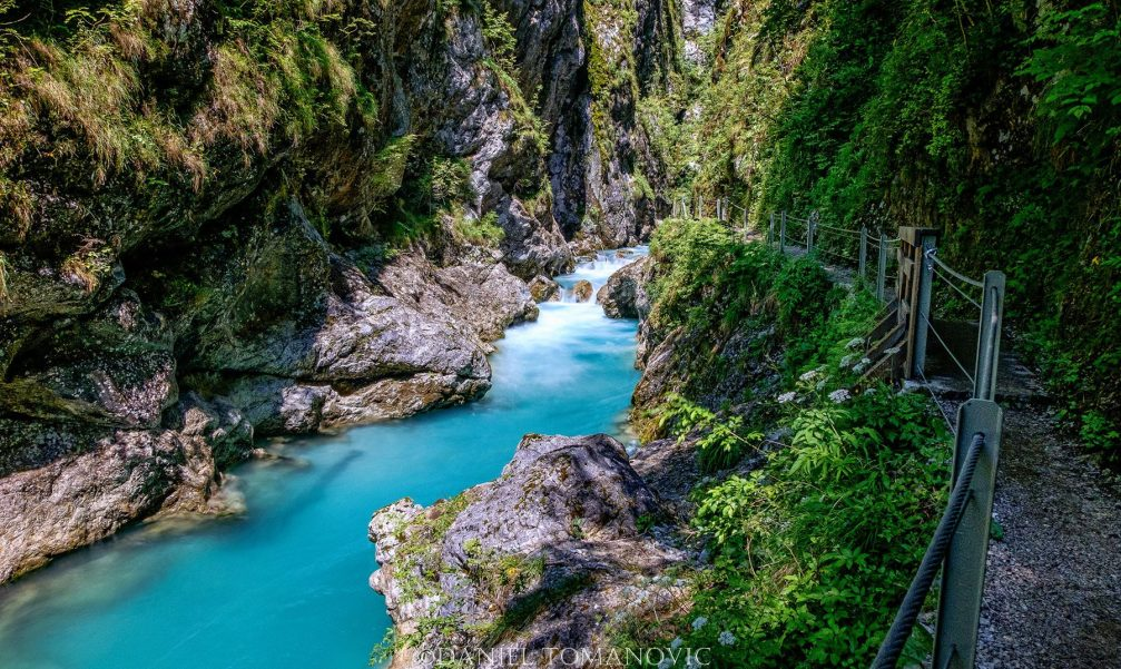 Tolmin Gorge in the Triglav National Park in Slovenia