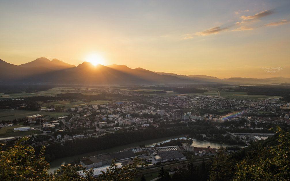 Panorama of Kranj, the capital of the Gorenjska region of Slovenia