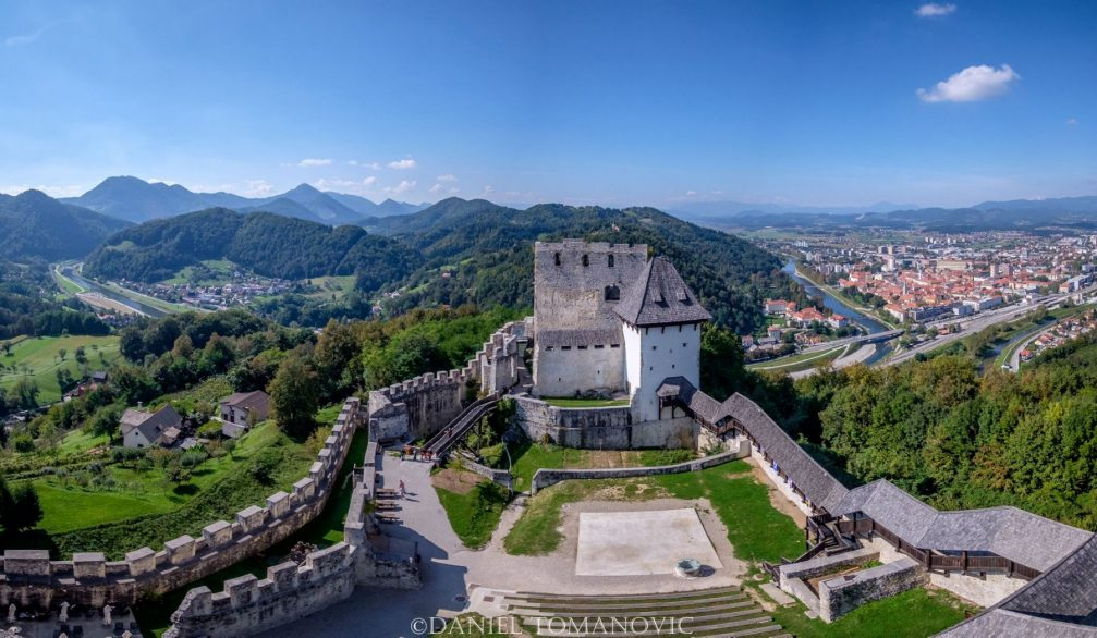 Old Castle with the city of Celje, Slovenia in the background
