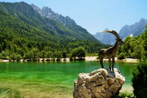 Jasna Lake in Kranjska Gora, Slovenia