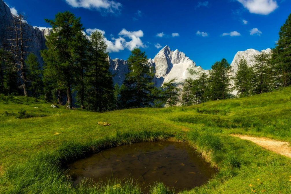 Slemenova Spica, a great place for breathtaking views in the Triglav National Park, Julian Alps, Slovenia