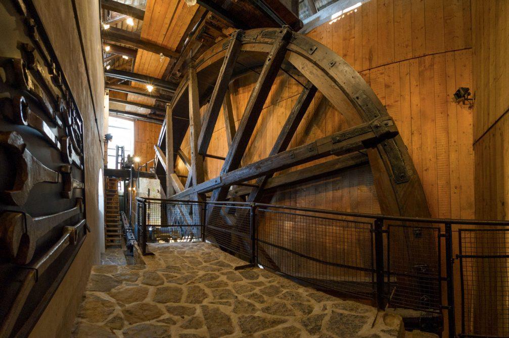 The Kamst wooden waterwheel in Idrija built in 1790