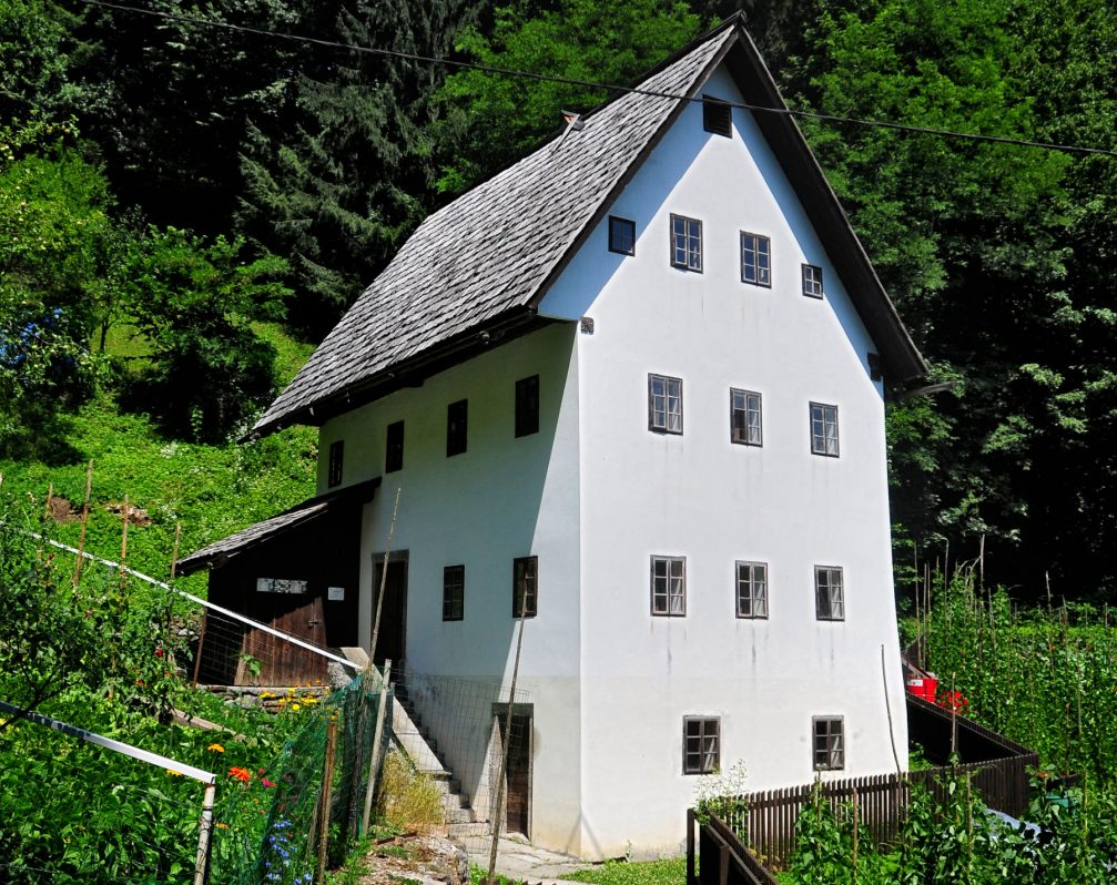 The 4-storey Miner's House in Idrija in western Slovenia