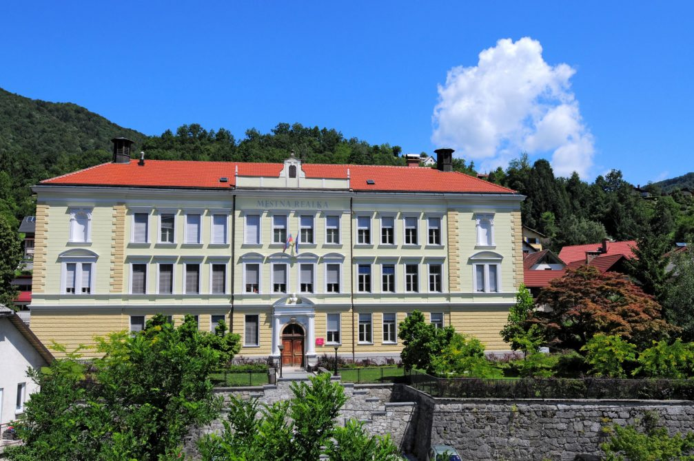 The first Slovenian non-classical secondary school, today the Jurij Vega Grammar School in Idrija