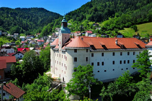 The Gewerkenegg Castle In Idrija, Slovenia