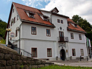 Exterior of the Guesthouse Barbara in Idrija, Slovenia