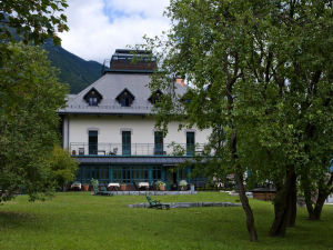 Exterior of Hotel Dobra Vila in Bovec, Slovenia