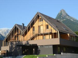 Exterior of Hotel Sanje Ob Soci in Bovec, Slovenia