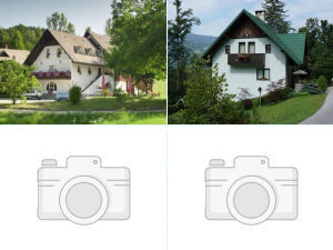 Collage of bed and breakfasts in Idrija, Slovenia