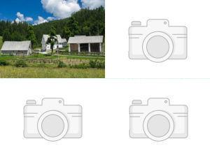 Collage of farm stays in Idrija, Slovenia