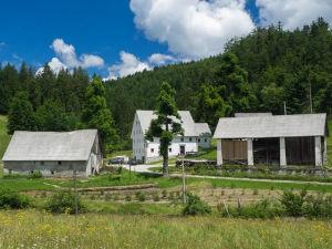 Kmetija Nasraj in the Idrija area in western Slovenia
