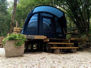 Exterior of Camping Vodenca in Bovec, Slovenia