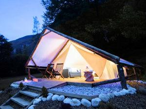 Exterior of Adrenaline Check Camping in Bovec, Slovenia