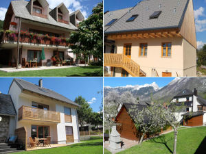 Collage of apartments in Bovec, Slovenia