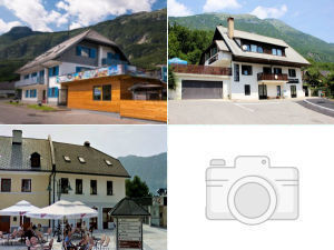 Collage of hostels in Bovec, Slovenia