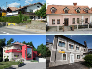 Collage of bed and breakfasts in Postojna, Slovenia