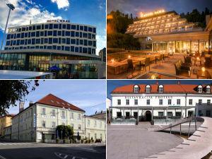 Collage of hotels in Postojna, Slovenia