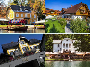 Collage of Lake Bled guest houses