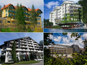 Collage of Lake Bled hotels