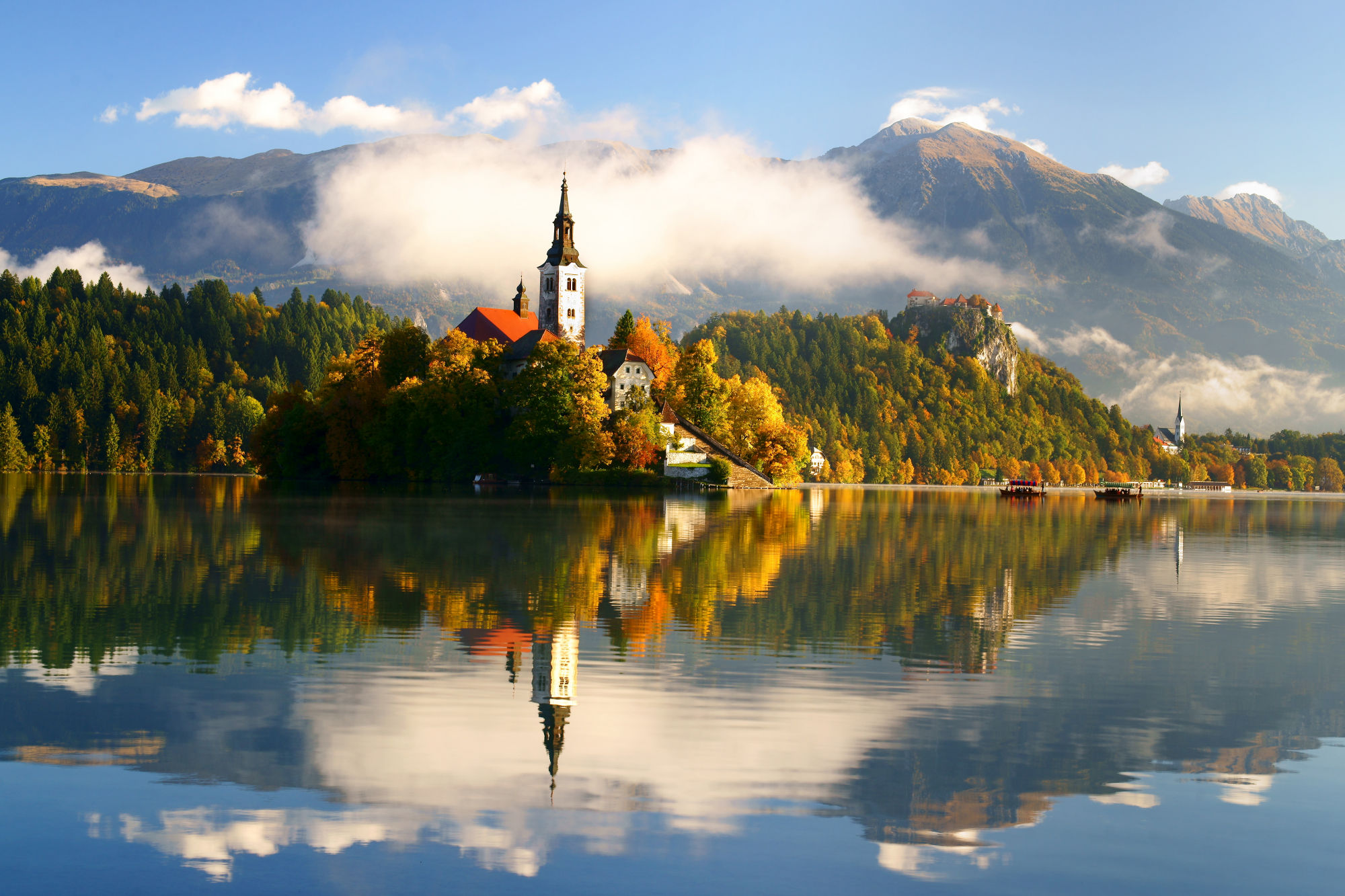 Lake Bled with its island and castle