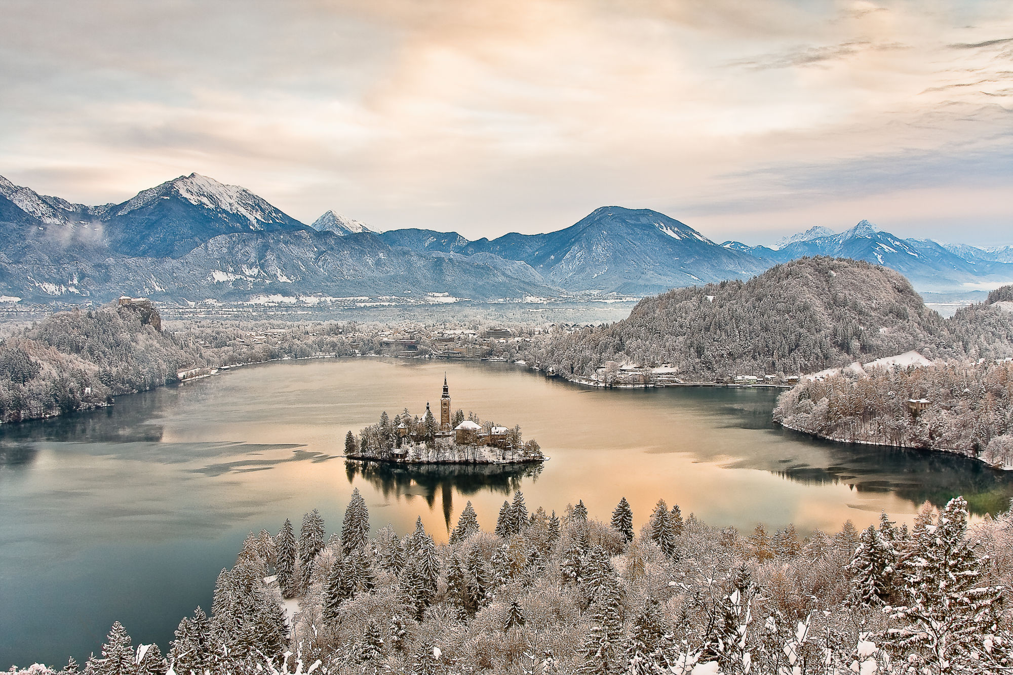 Lake Bled Winter Snow Travelslovenia Org All You Need To